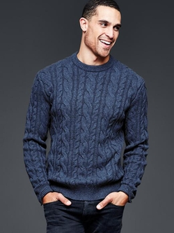 Gap - Lambswool Cableknit Crew Sweater