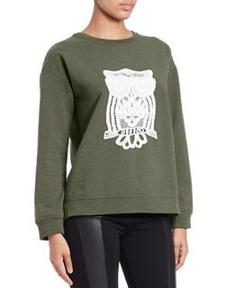 Kensie - Long-Sleeve Owl Sweater