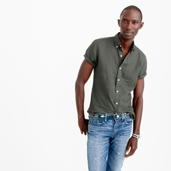 J.Crew - Short Sleeve Irish Linen Shirt