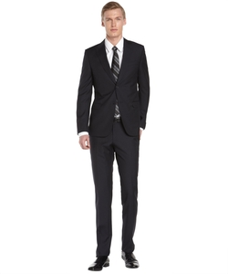 Z Zegna - Navy Diamond Wool Drop 8 Suit