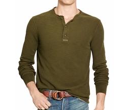 Polo Ralph Lauren - Cotton Jacquard Henley Shirt