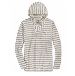 American Rag - Stitch-Stripe Long-Sleeve Hoodie T-Shirt