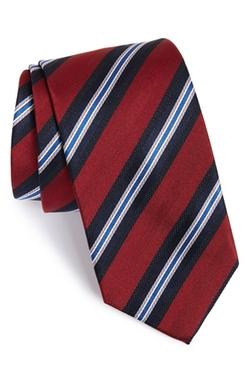 David Donahue - Stripe Silk Tie