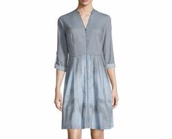 Elie Tahari  - Rudy Long-Sleeve Zip-Front Shirtdress