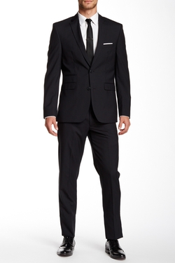 Vince Camuto  - Notch Lapel Two Button Wool Suit
