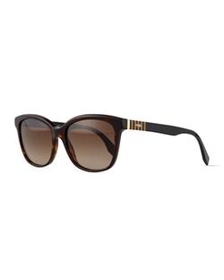 Fendi  - Pequin Striped-Temple Sunglasses
