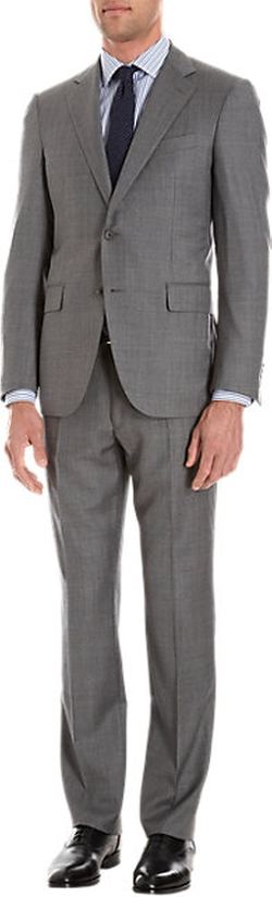 Barneys New York - Worsted Lotus Two-Button Suit