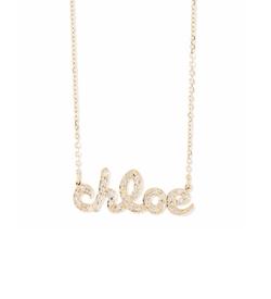 Sarah Chloe  - Ava Petite Diamond Name Pendant Necklace