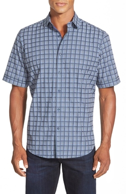 Bugatchi  - Classic Fit Short Sleeve Check Sport Shirt