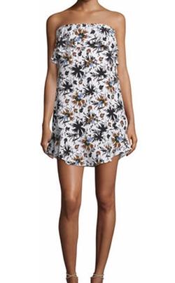 A.L.C. - Romy Strapless Floral Silk Mini Dress
