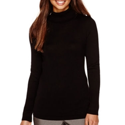 Worthington -  Long-Sleeve Turtleneck Pullover Sweater