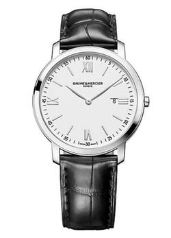 Baume & Mercier  - Stainless Steel & Alligator Strap Watch