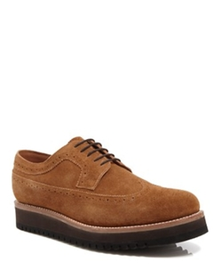 Grenson - Sid Suede Wingtip Oxford Shoes