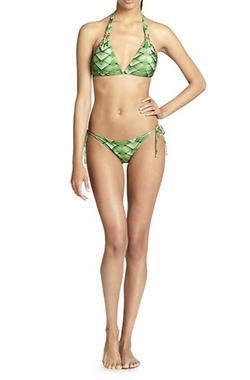 Agua De Coco By Liana Thomaz - Verdure String Bikini Top