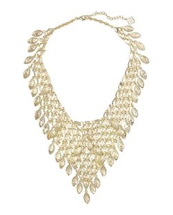 Kendra Scott - Tanay Statement Bib Necklace, Gold Plate