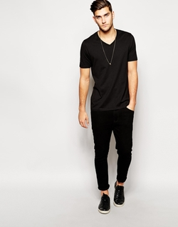 Asos - V Neck T-Shirt