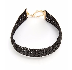 Vanessa Mooney - Leather Lace Choker Necklace