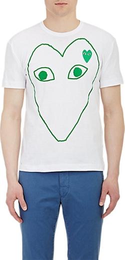 Comme Des Garçons Play  - Heart Graphic T-Shirt