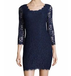 Diane von Furstenberg - Zarita Lace V-Back Dress