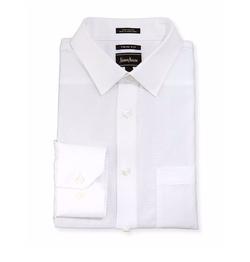 Neiman Marcus - Trim-Fit Dobby Dress Shirt