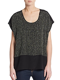 Eileen Fisher - Sequined Silk-Crepe Blouse