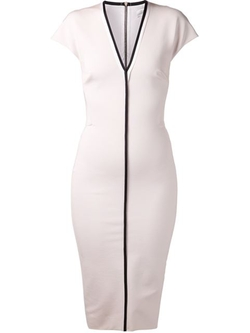 Victoria Beckham   - V-Neck Fitted Dress