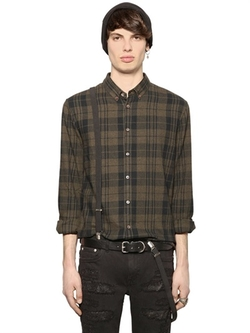 BLK DNM - Plaid Cotton Flannel Shirt
