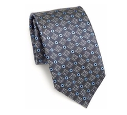 Saks Fifth Avenue Collection - Plaza Silk Tie