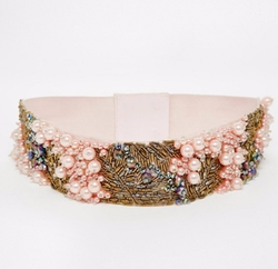Asos - Co-Ord Pearl And Bead Embellished Waist Belt