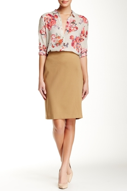 Grace - Exposed Zip Pencil Skirt