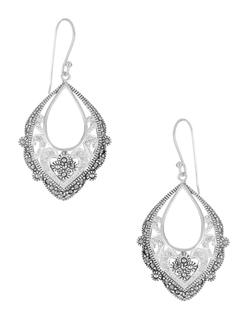 Lord & Taylor - Rhinestone Openwork Drop Earrings