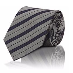Lanvin  - Shantung-Striped Necktie