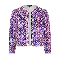 Topshop - Jacquard Embroidered Jacket