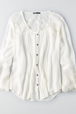 American Eagle Outfitters - Flowy Button Down Shirt