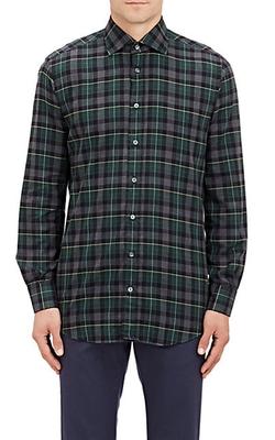 Luciano Barbera - Plaid Flannel Dress Shirt