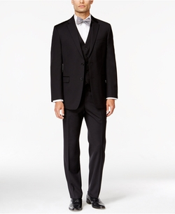 Tommy Hilfiger - Textured Slim-Fit Vested Suit