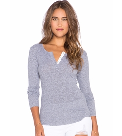 Monrow - Long Sleeve Rib Henley