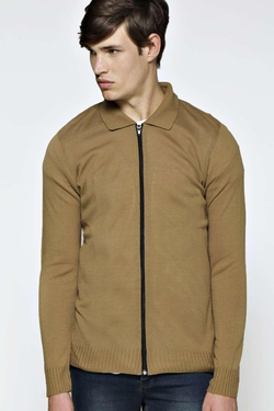 Boohooman  - Night Knitted Zip Through Jacket