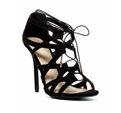 Legend Footwear - Adele Lace-Up Cage Pumps