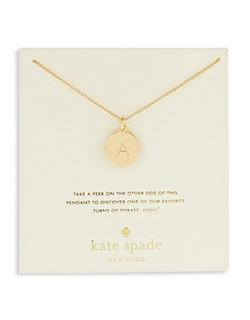 Kate Spade New York  - Engraved Letter A Pendant Necklace
