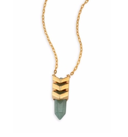 Tomtom  - Chevron Prix  Goldplated Pendant Necklace
