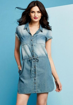 Alloy - Amy Short-Sleeve Denim Dress