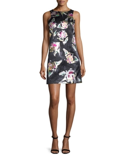 Phoebe - Sleeveless Floral-Print Shift Dress