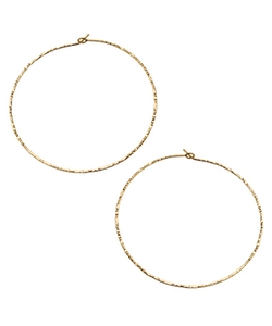 Charlene K - Hammered Hoop Earrings