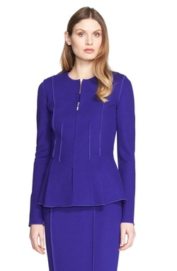 St. John Collection - Milano Piqué Knit Peplum Jacket