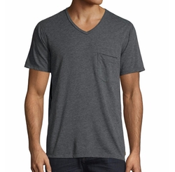 7 For All Mankind  - Raw-Edge V-Neck Tee