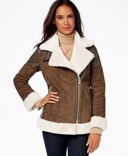 Michael Michael Kors - Faux-Shearling Moto Jacket