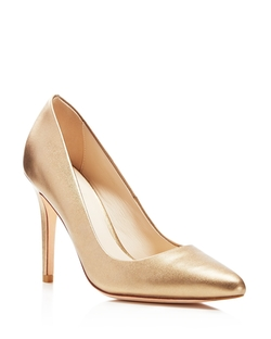 Cole Haan - Emery Metallic Pointed Toe Pumps