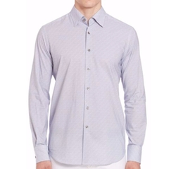 Saks Fifth Avenue Collection  - Pindot Cotton Sportshirt