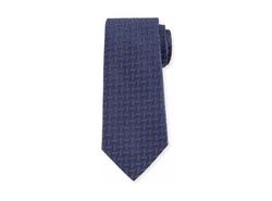 Armani Collezioni - Woven Zigzag Silk Tie